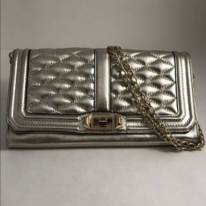 Pewter Quilted Clutch